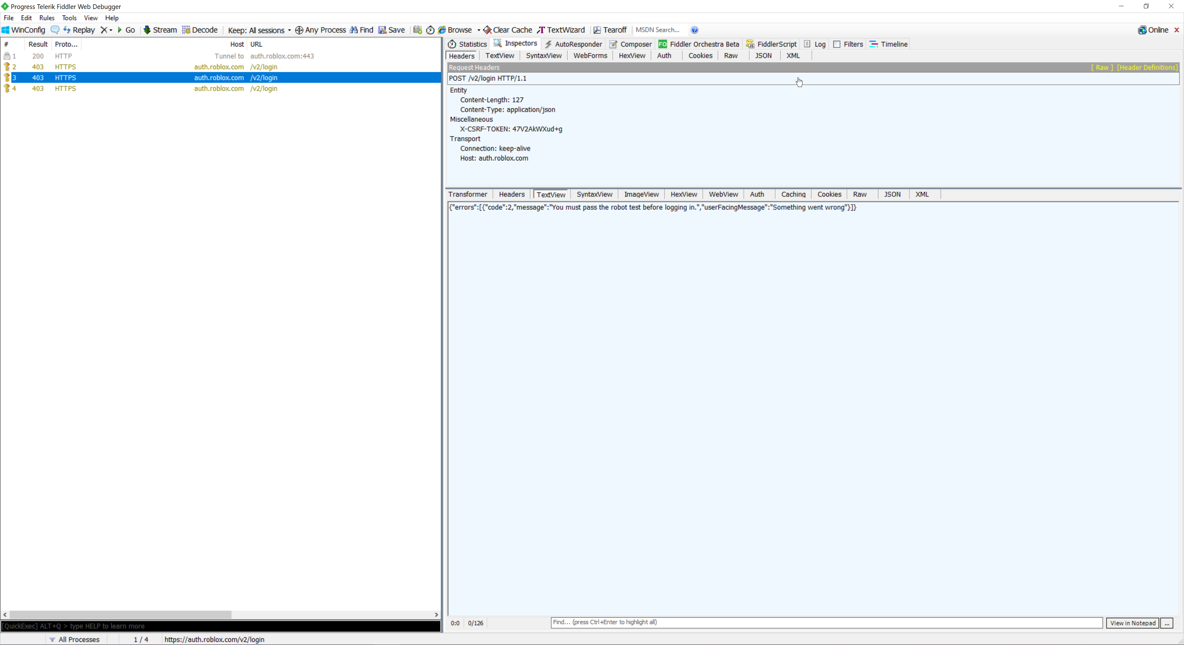 Roblox Fiddler Script Fixed Getting The X Csrf Token